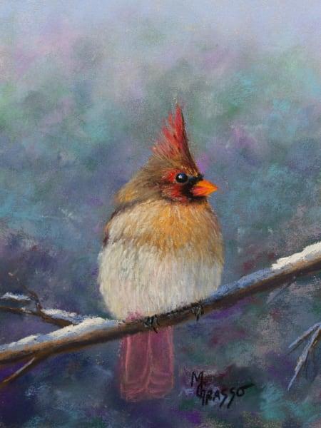Female Winter Cardinal Art | Mark Grasso Fine Art