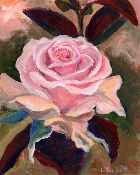 "Limited Edition ""Pink Rose"" Art | Linda Sacketti"