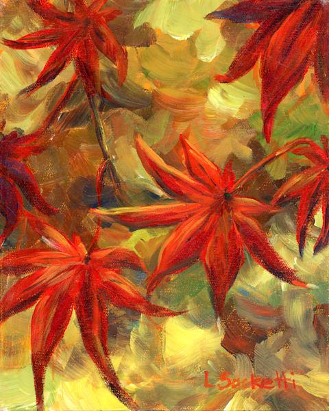 "Limited Edition ""Japanese Maple Leaves"" Art | Linda Sacketti"