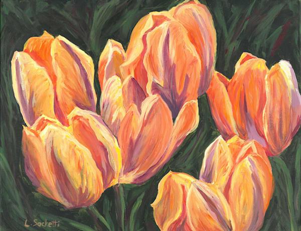 "Limited Edition ""Orange Tulips"" Art | Linda Sacketti"
