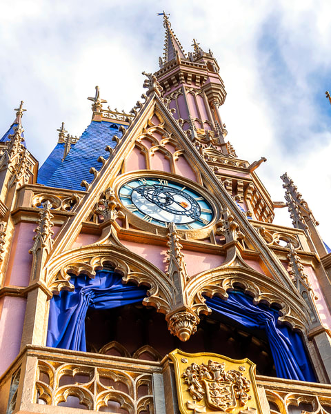 Looking Up at Cinderella's Castle - Disney Wall Art for Adults