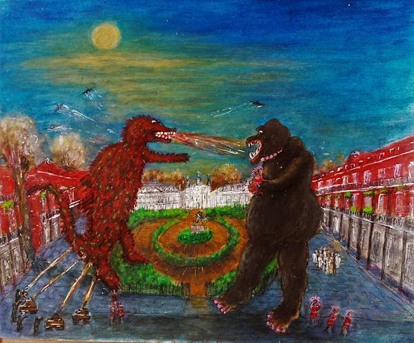 Queen Kong Vs Gatorsaurus Art | New Orleans Art Center