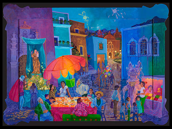 Guanajuato At Night Art | Fine Art New Mexico