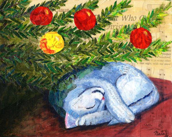 The Cat Who Came For Christmas Art   Poppyfish Studio