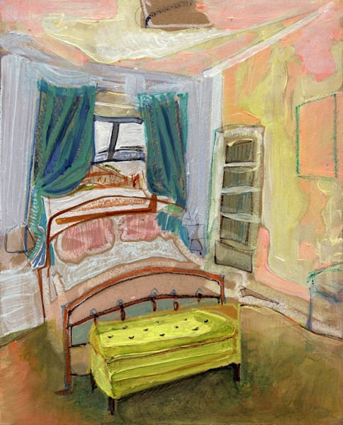 .Sarah's Glasgow Bedroom | Erika Stearly, American Artist