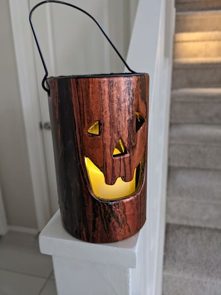 Halloween Lantern Art | Paintpourium