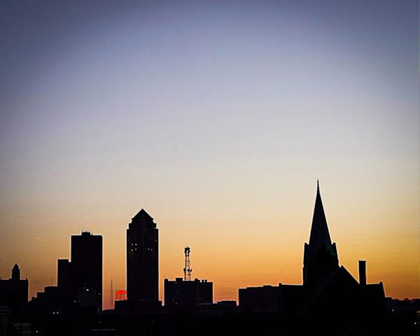 Downtown Des Moines Silhouette
