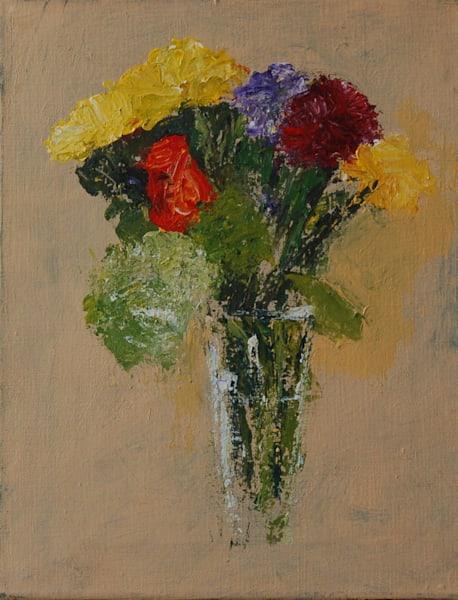 Flowers In A Glass Vase Art | michaelwilson