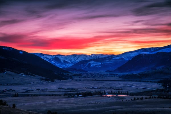 Sunset over the Valley - Colorado fine-art photography prints