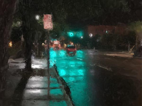 St Petersburg.Rainy Street.No Parking Art   Glenn McDaniel Arts, LLC