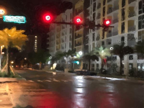 St Petersburg.Rainy Street.Palm In The Light Art   Glenn McDaniel Arts, LLC