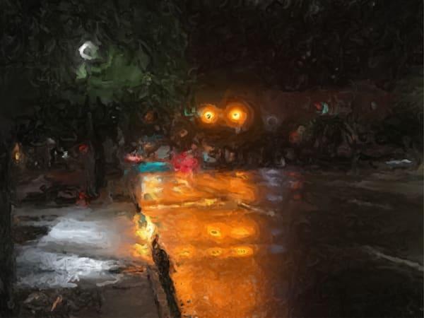 St Petersburg.Rainy Street.Slow Art   Glenn McDaniel Arts, LLC