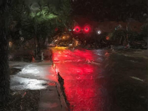 St Petersburg.Rainy Street.Stop Art   Glenn McDaniel Arts, LLC
