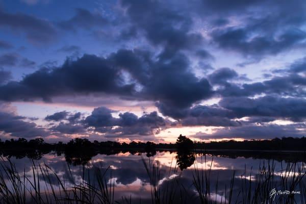 Pre-dawn Cloud Reflections, Damon, Texas