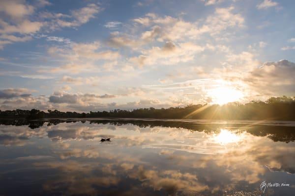 Daybreak Cloud Reflections, Damon, Texas