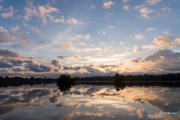 First Light Cloud Reflections, Damon, Texas