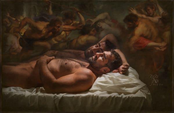 """Lucid Dreaming""  Unique Original Work, Encaustic Mixed Media, Price Upon Request Art   benfinkproductions"