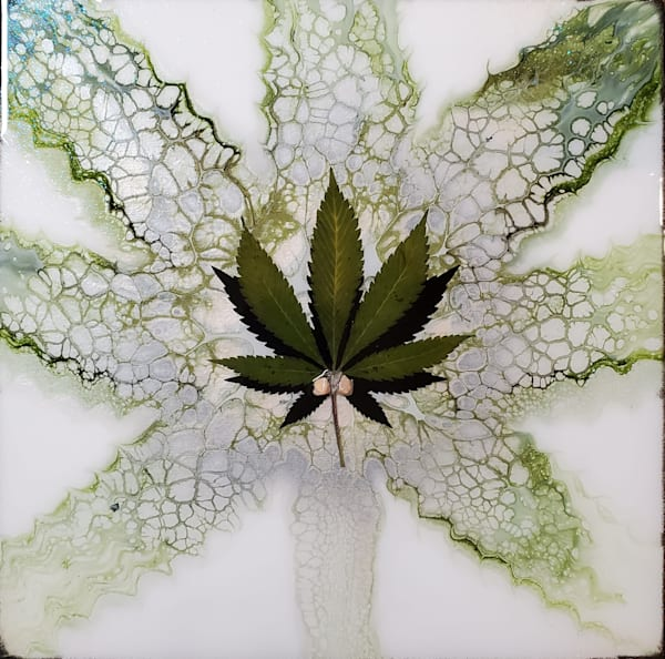 For Love Of The Leaf (Glow In The Dark) Art   Breathe Art Paintings