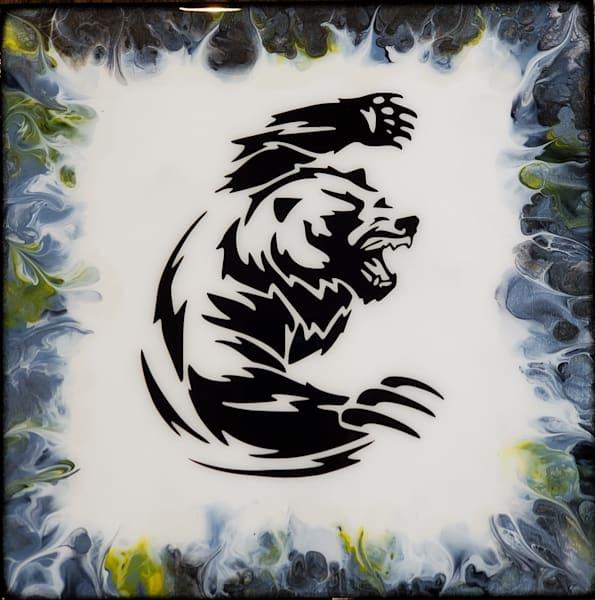 Bear Power (Glow In The Dark) Art   Breathe Art Paintings
