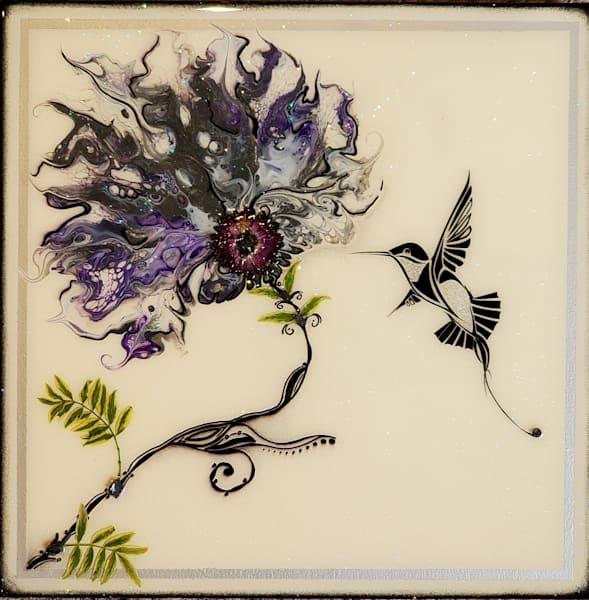 Hummingbird (Real Flower) Art   Breathe Art Paintings