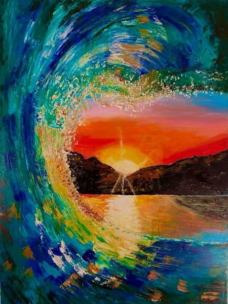 Waves Of Bliss Art   Coat Of Many Colors