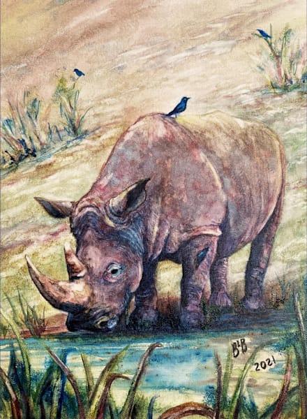 Rhino & Hitchhikers Art | Blissful Bonita Art Studio & Gallery
