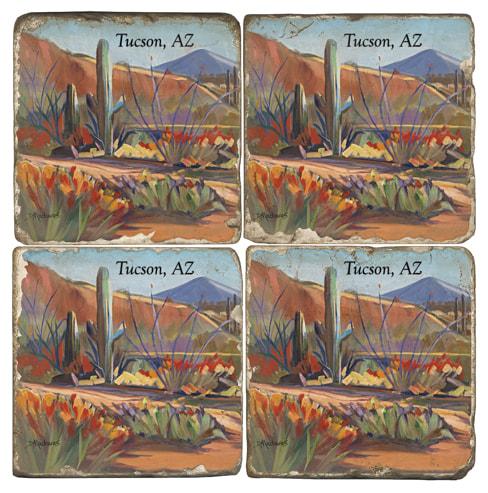 Along the Red Mile Tucson, AZ Coaster Set