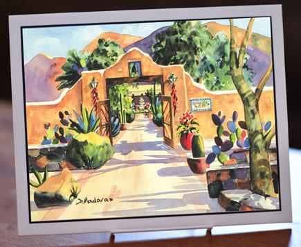 Hacienda Gate II Art Tile