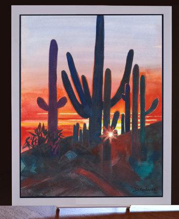 Sunset at Dove Mountain Art Tile