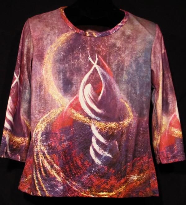 """""""In Spirit"""" Ladies Shirt by Kevin Moffatt ( front view )"""
