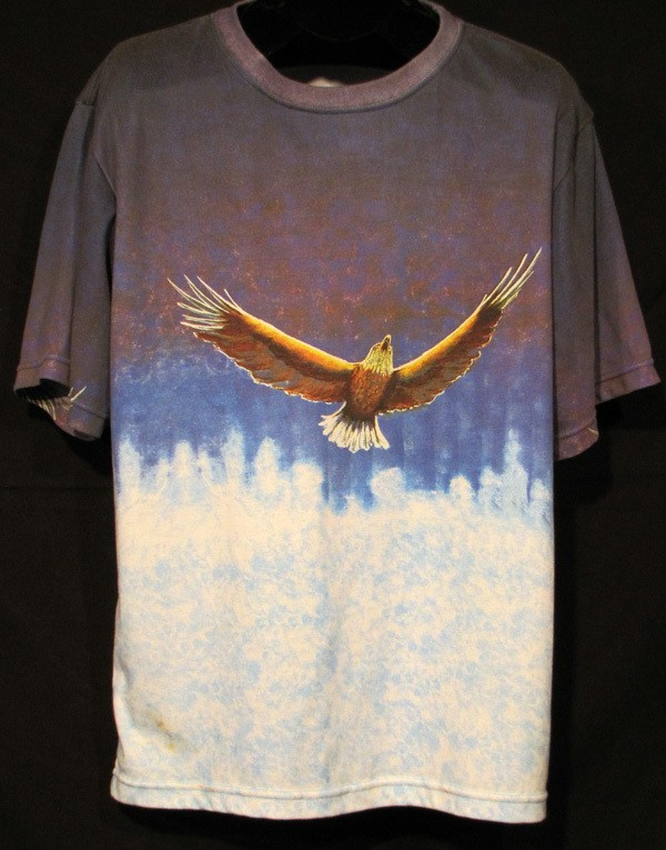 """Soaring""  Men's Shirt by Kevin Moffatt (front view)"