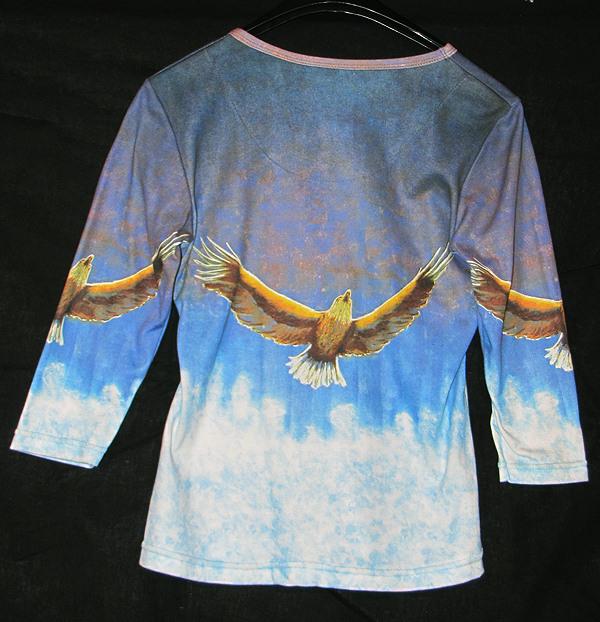 """Soaring"" Ladies Shirt by Kevin Moffatt (back view)"