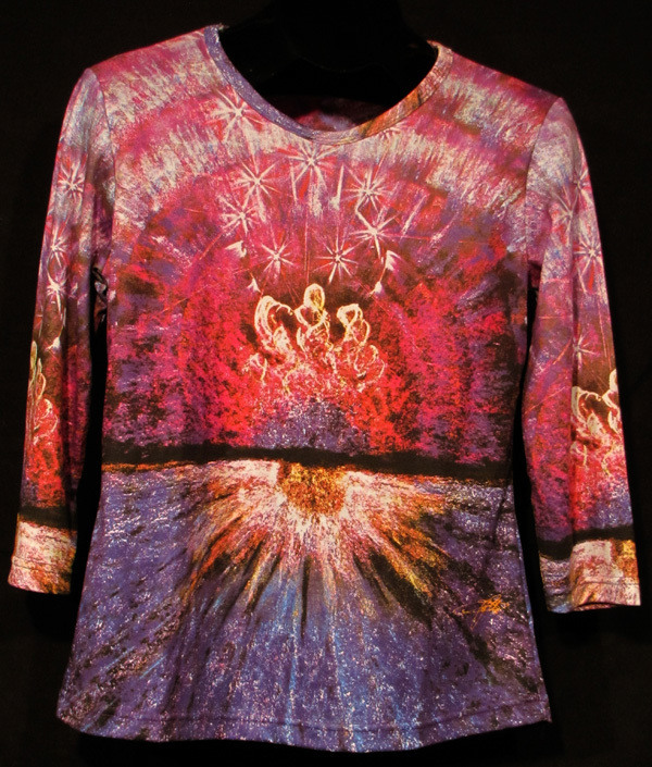 """Dance On The Glass"" Ladies Shirt by Kevin Moffatt (front view)"