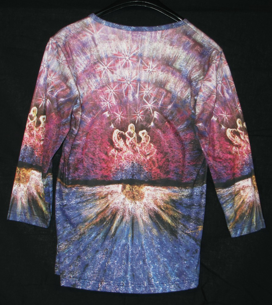 Dance On The Glass Ladies Shirt by Kevin Moffatt (back view)