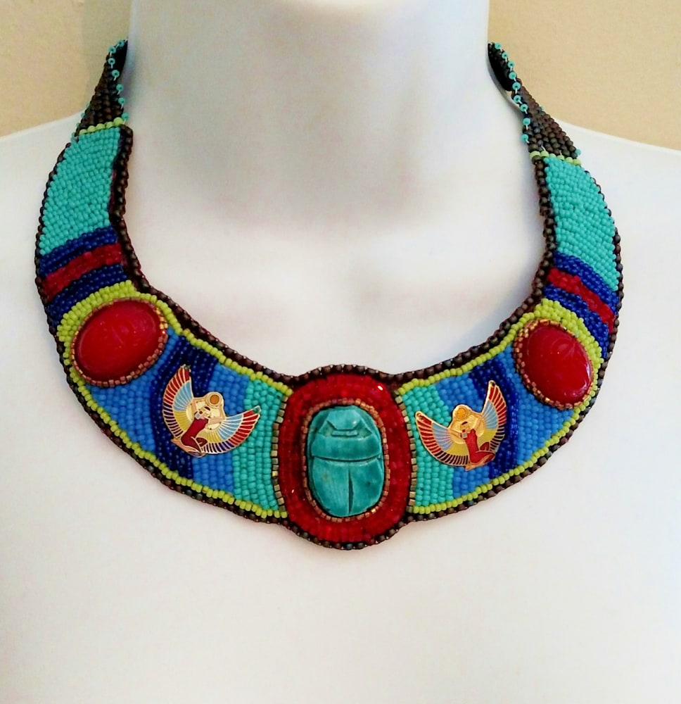 Pharaoh's Daughter Necklace: Out Of Egypt Collection by Kathryn Lane Berkowitz