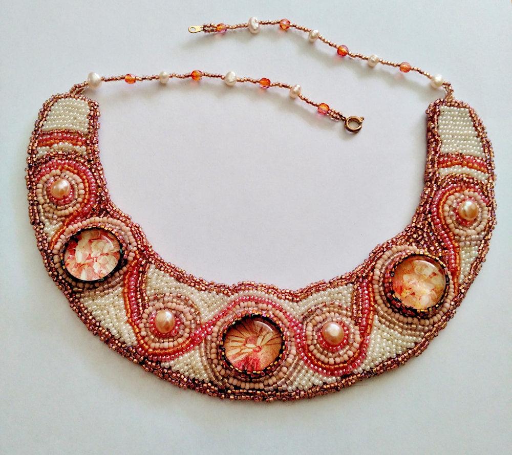Peony Collar: Garden Collection by Kathryn Lane Berkowitz