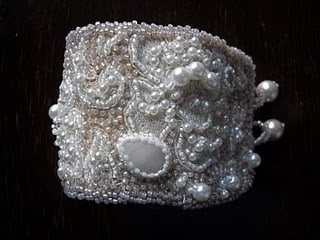 Candlelight Cuff: The Bridal Collection by Kathryn Lane Berkowitz