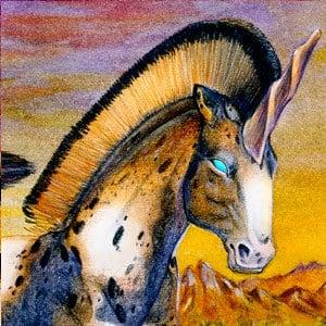 unicorns-in-sunset-detail-head-2-goziwe