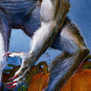 Werewolf-with-Pumpkins-detail-claw-and-knee-awz2wk