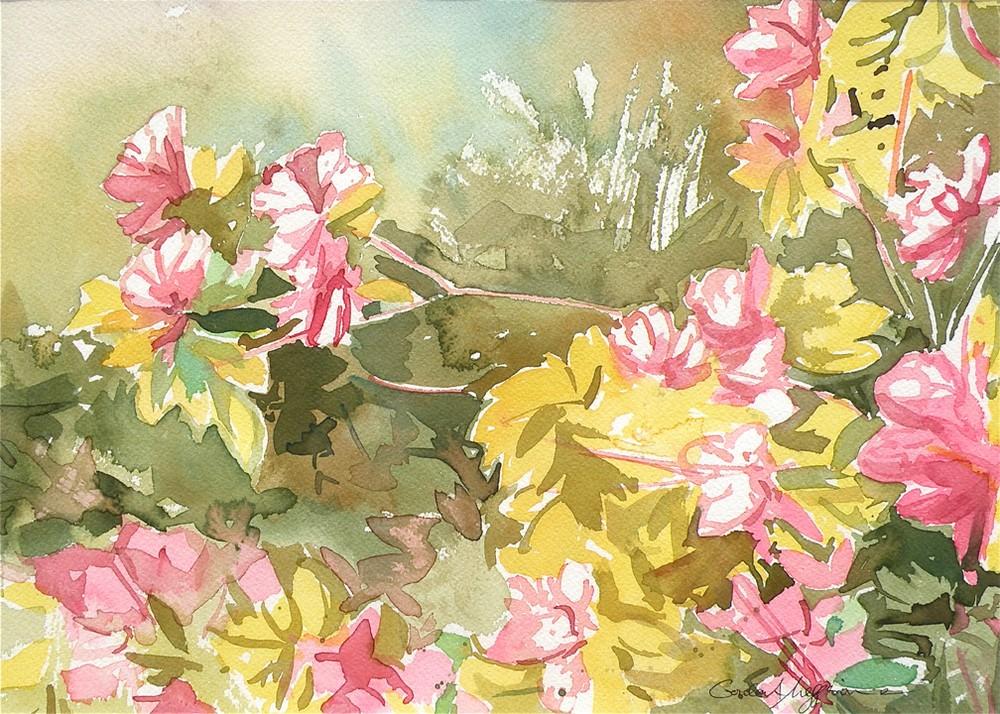 Azaleas-in-Spring-1-12-X14-Watercolor-Orig-raa5sm