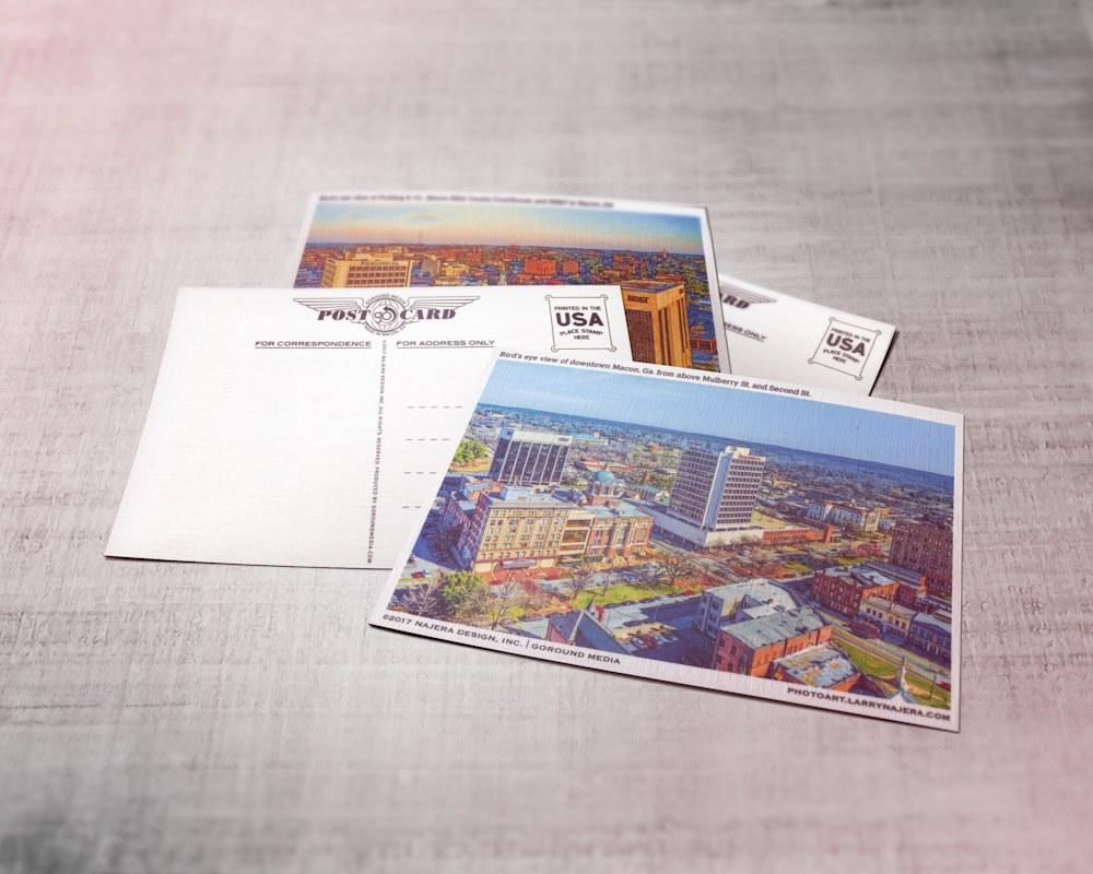 Set Of 12 Postcards Featuring Macon Ga