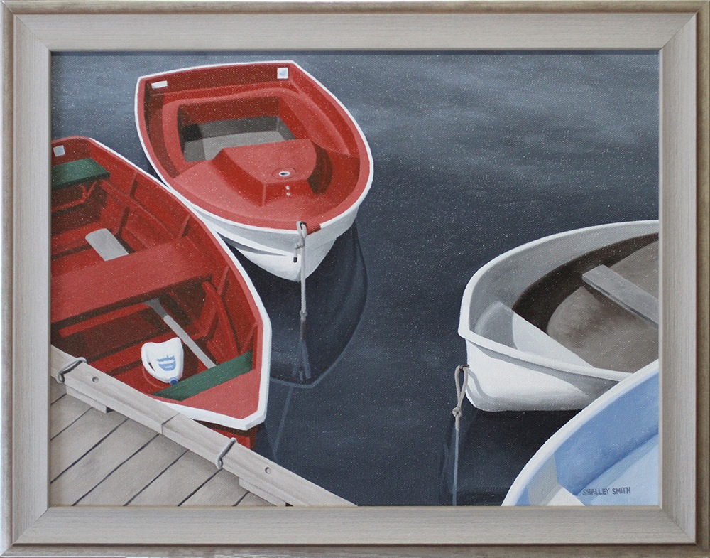 Rockport MA Dinghies Reflections Dock Art Prints & Paintings