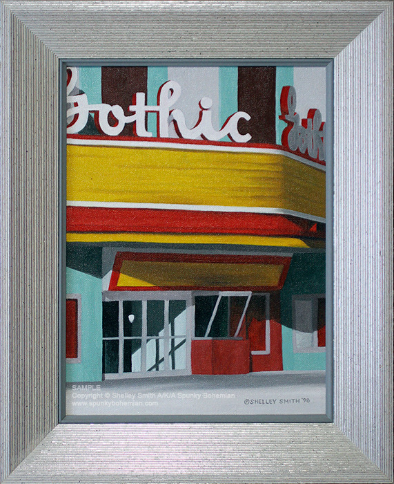 American Gothic Theater Painting Denver Colorado by Shelley Smith