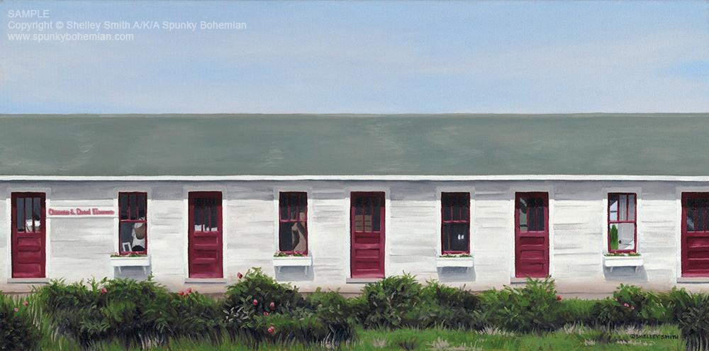 Fish Creek Door County Cherry Orchard Barn Art Prints & Paintings