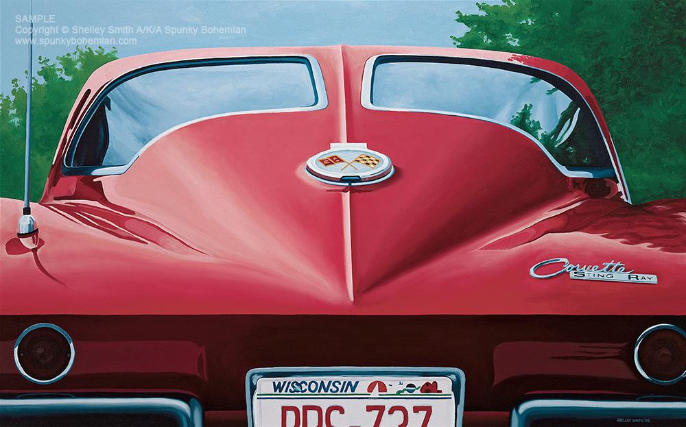 1963 Split Window Coupe Corvette Limited Edition Art Prints & Paintings