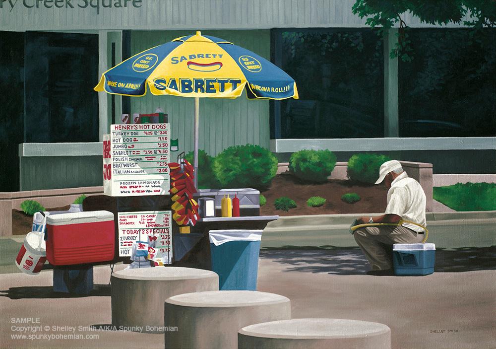 Hot Dog Stand Creek Creek North Denver, Colorado | Art & Original Paintings for Sale