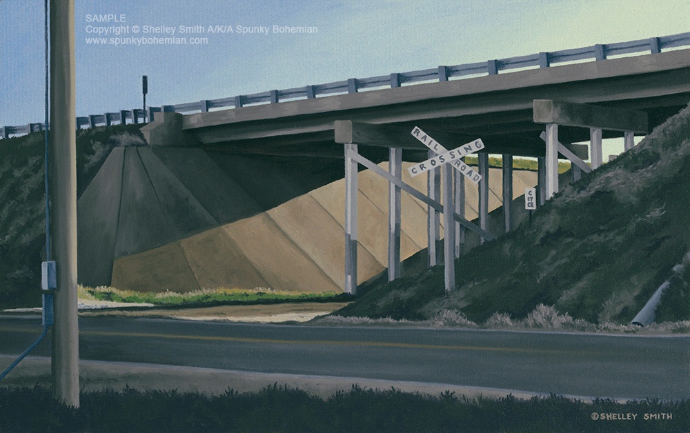 Sunset | Underpass | I25 Colorado | Railroad | Shelley Smith | Artwork For Sale