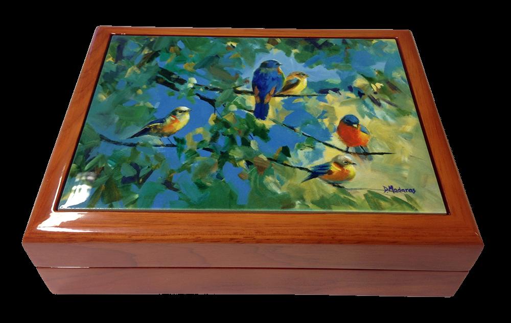 Wooden Keepsake Box Southwest Gifts Five Birds
