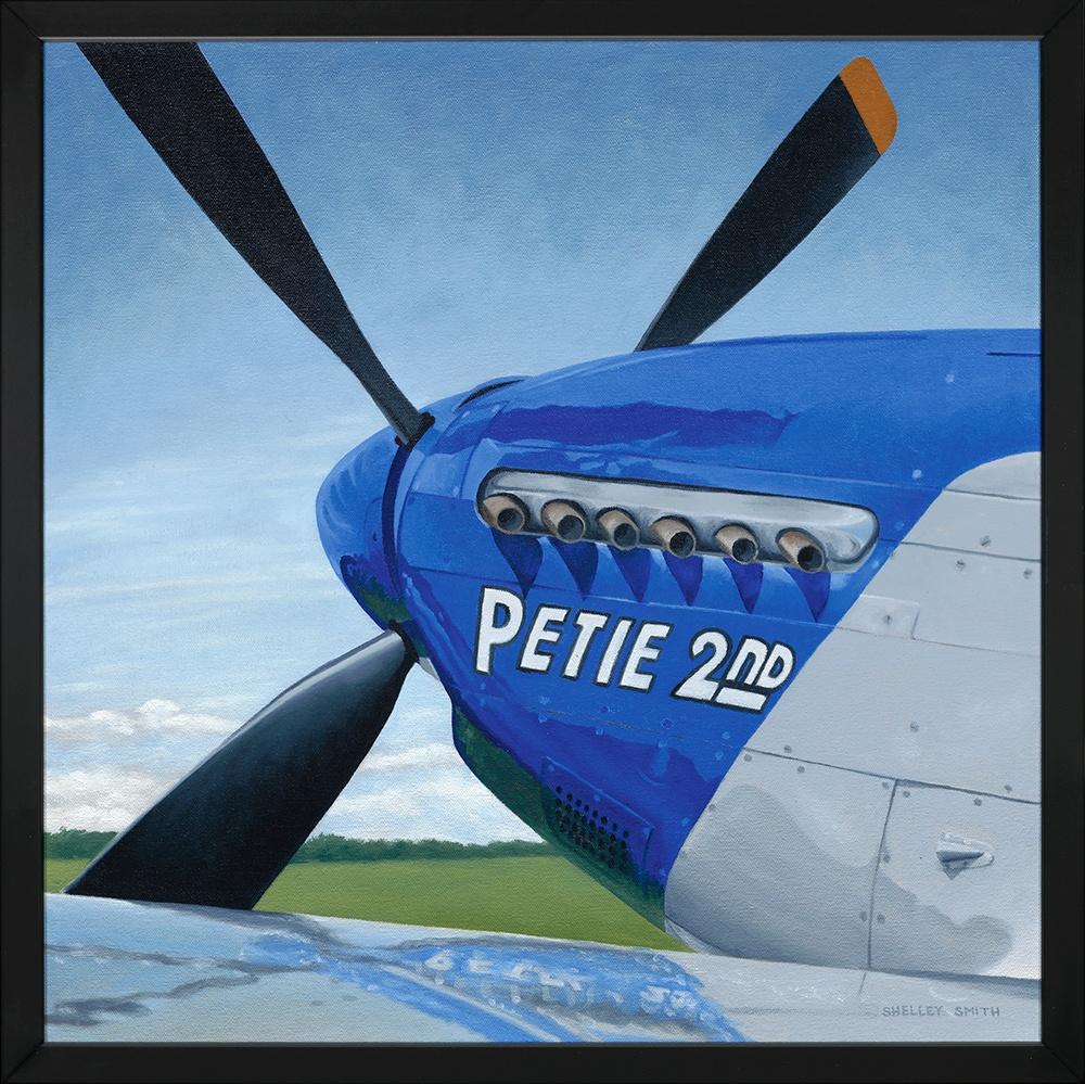 Warbird Petie 2nd | Framed | Original Oil Painting & Fine Art Prints