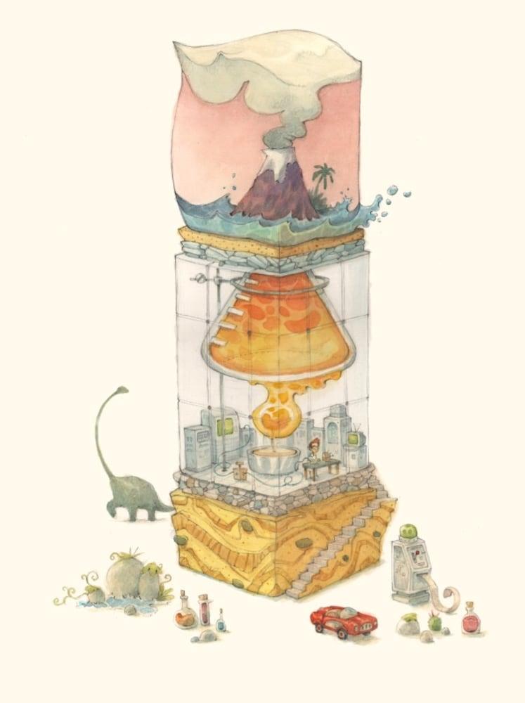 global-warming-volcano-illustration-watercolor-painting-james-serafino-wet-paint-nyc-q4cili